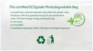 ECOgrade Photo-degradable Bags